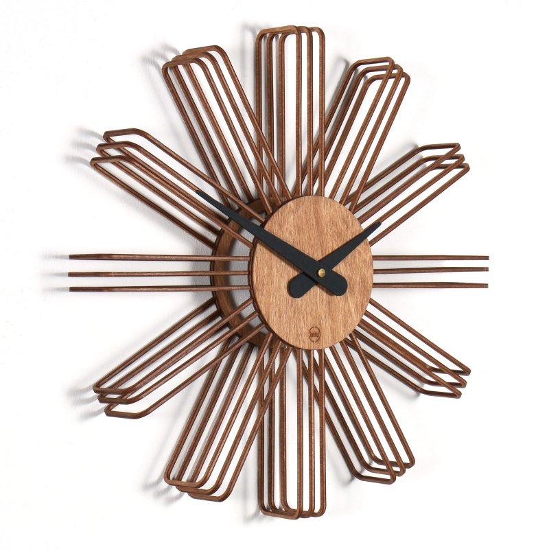 wanduhr estrella aus holz 109 00. Black Bedroom Furniture Sets. Home Design Ideas