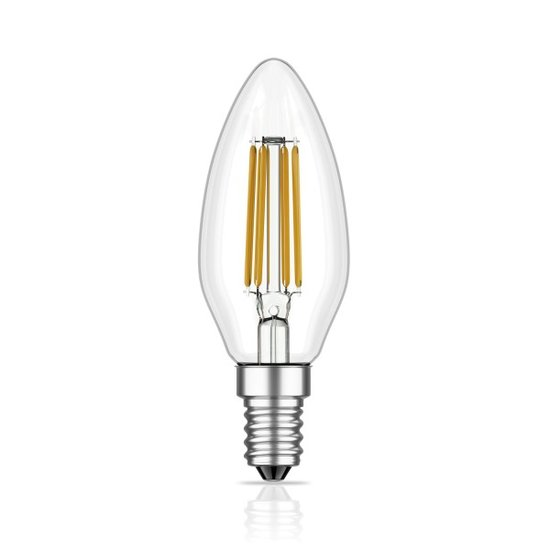 E14 LED Lampe Filament - KLAR 4 Watt | 340 Lumen
